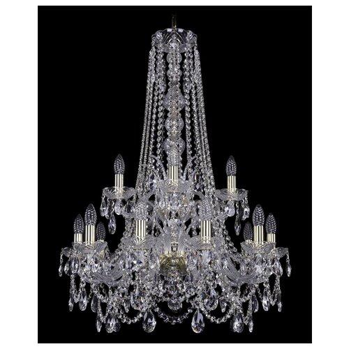 Фото - Люстра Bohemia Ivele Crystal 1411 1411/10+5/240/h-94/2d/G, E14, 600 Вт люстра bohemia ivele crystal 1411 1411 12 6 300 h 94 g e14 720 вт