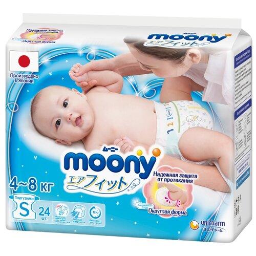Moony подгузники New S (4-8 кг) 24 шт.