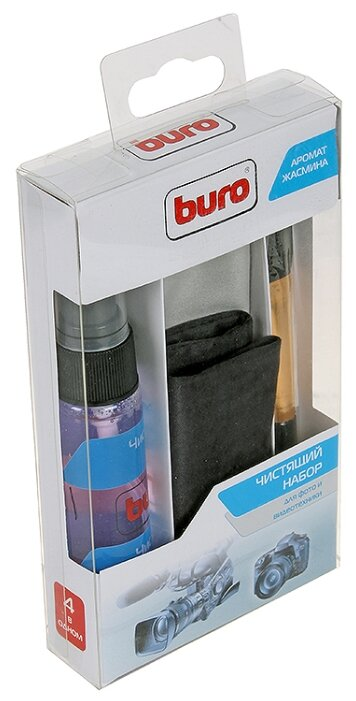 Чистящее средство, салфетки, кисточка Buro BU-Photo+Video
