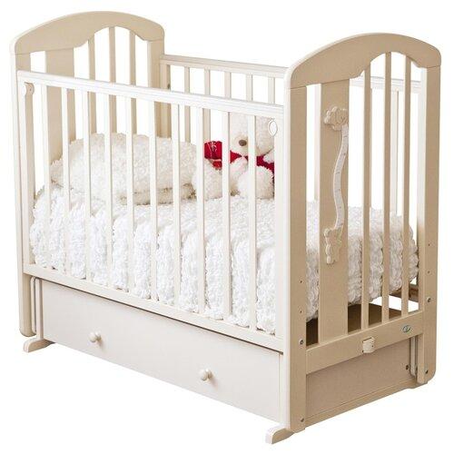 Кроватка Красная Звезда Агата С719 Мишки (классическая), поперечный маятник слоновая кость недорого