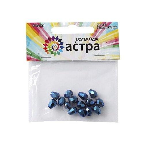 Купить Astra & Craft бусины Premium 7712145 1 голубой, Фурнитура для украшений