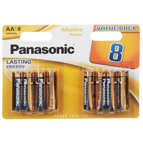 Фото - Батарейка Panasonic Alkaline Power AA/LR6, 8 шт. батарейка smartbuy aa lr6 ultra alkaline 40 шт