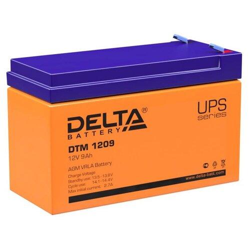 Аккумуляторная батарея DELTA Battery DTM 1209 9 А·ч аккумуляторная батарея delta battery dtm 1275 l 75 а·ч