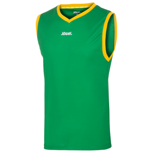 Майка Jögel JBT-1020 размер YL, зеленый/желтый