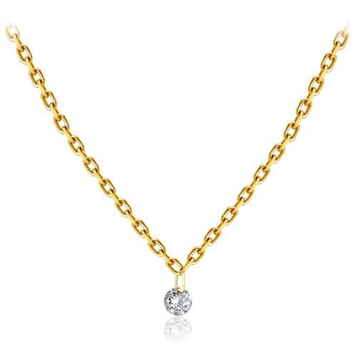 Бронницкий Ювелир Колье из желтого золота 54309670, 47 см, 1.71 г бронницкий ювелир колье из желтого золота 54319559 45 см 2 98 г
