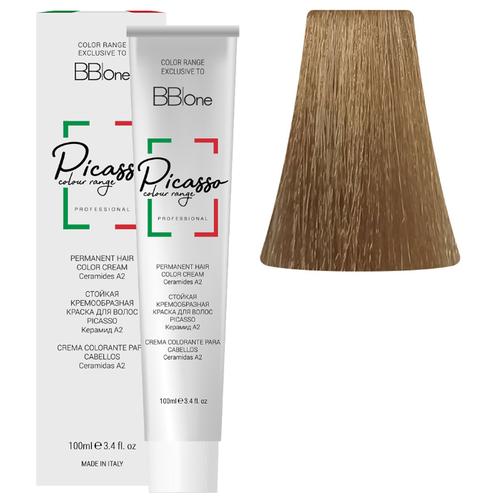BB One Picasso Colour Range Перманентная крем-краска, 100 мл, 8.003 средний натуральный светлый блонд bb one picasso colour range перманентная крем краска 100 мл 8 1 пепельный натуральный светлый блонд