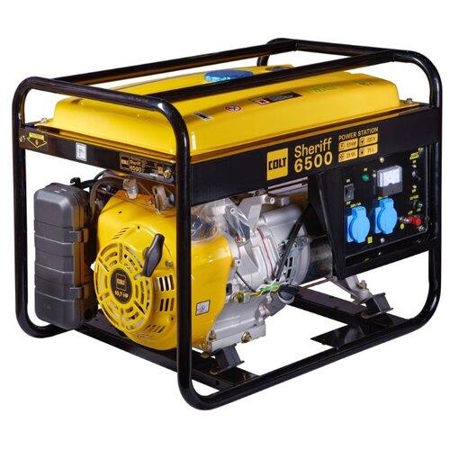 Бензиновый генератор COLT Sheriff 6500 (5000 Вт) бензиновый генератор dde g550e 5000 вт