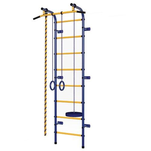 Купить Шведская стенка Пионер С1РМ синий/желтый, Игровые и спортивные комплексы и горки