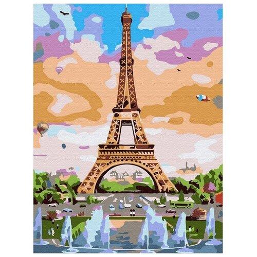 Купить Molly Картина по номерам Эйфелева башня 15х20 см (KH0790), Картины по номерам и контурам