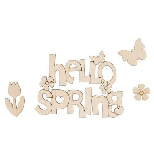 Купить Mr. Carving Набор заготовок для декорирования Hello Spring ВД-704 бежевый, Декоративные элементы и материалы