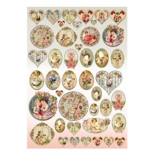 Купить Карта для декупажа Ангелочки 50 х 70 см 1 лист, Stamperia, Карты, салфетки, бумага