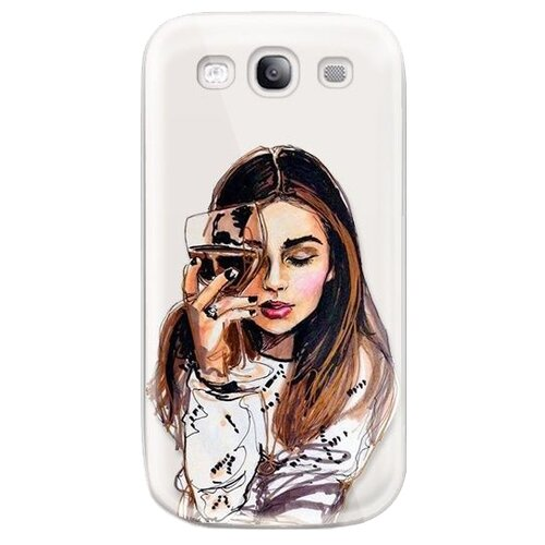 Чехол With Love. Moscow W003201SAM для Samsung Galaxy S3 Девушка с вином