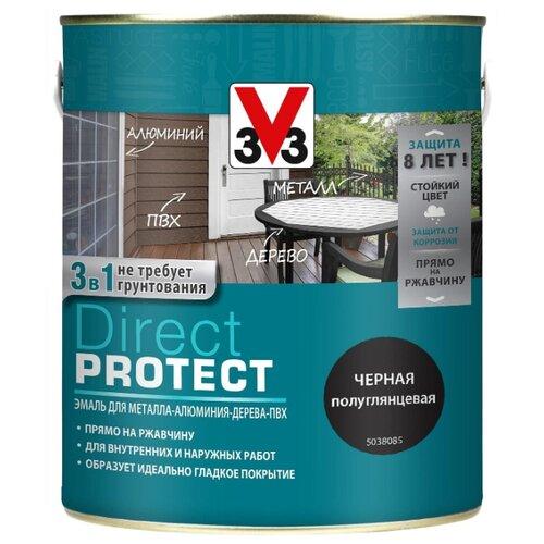 Эмаль алкидная (А) V33 Direct Protect 1138 черный 2.5 л