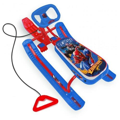 Фото - Снегокат Nika Человек-паук CSM1 красный/синий ледянка 1 toy человек паук т59096 красный синий