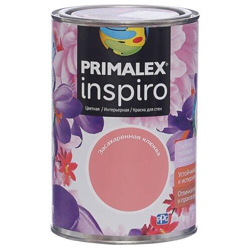 Краска PRIMALEX Inspiro моющаяся матовая засахаренная клюква 1 л