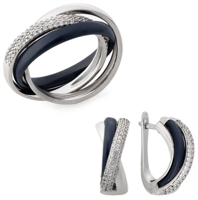 Kuro Hana Комплект кольцо и серьги из керамики 1004/1012/1020/1028