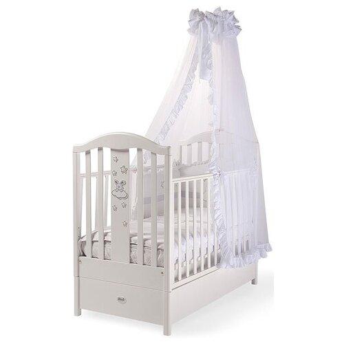 Купить Кроватка Feretti Romance FMS (классическая), продольный маятник белый, Кроватки