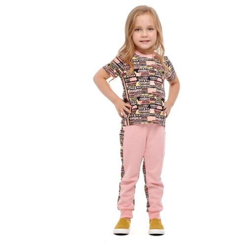 шорты для мальчика lucky child летний марафон цвет голубой 19 341 размер 86 92 Футболка lucky child размер 26 (86-92), розовый