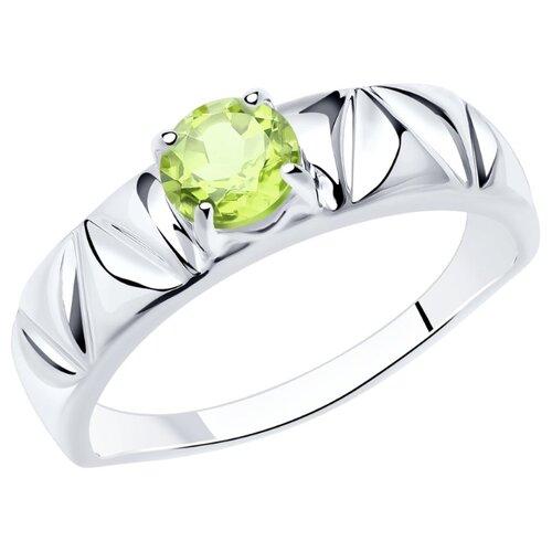 Diamant Кольцо из серебра с хризолитом 94-310-00793-2, размер 18.5