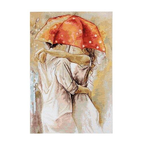 Купить Luca-S Набор для вышивания Под зонтом, 38.5 х 25.5 см, B0552, Наборы для вышивания