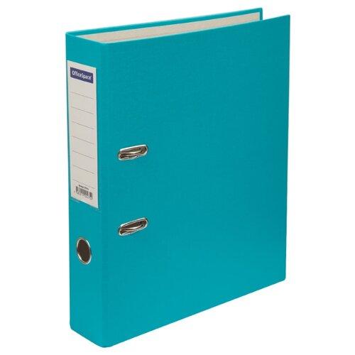 Купить OfficeSpace Папка-регистратор с карманом на корешке A4, бумвинил, 70 мм бирюзовый, Файлы и папки