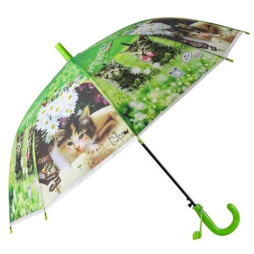 Фото - Зонт-трость полуавтомат Джамбо Тойз JB0206279 черный/зеленый/белый зонт трость полуавтомат три слона 1100 черный
