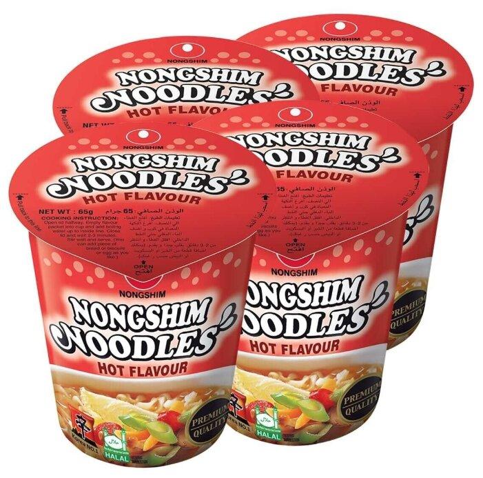 Купить Лапша быстрого приготовления Nongshim с перцем, стакан 65 г х 4 шт по низкой цене с доставкой из Яндекс.Маркета (бывший Беру)