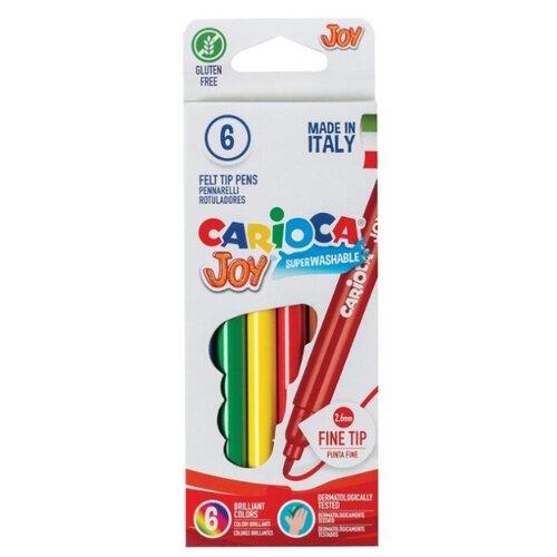 Carioca Фломастеры Joy 6 шт. (40613) маркеры и фломастеры carioca 3044806 фломастеры 6 цветов carioca joy 2 6 мм в картонном конверте