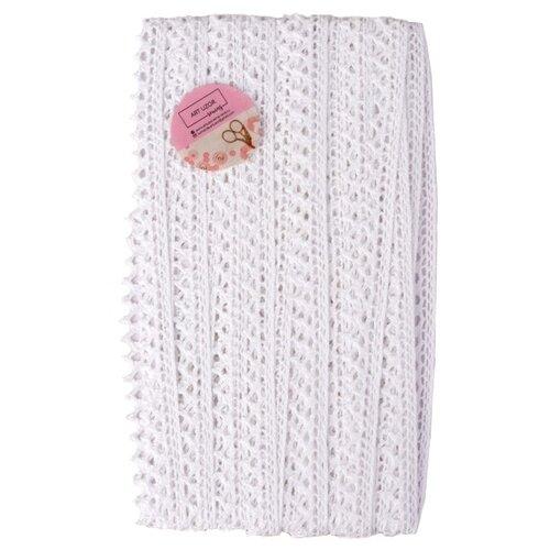 Кружево Арт Узор вязаное пришивное 8 мм, 15 м (1682749) белый, Декоративные элементы  - купить со скидкой