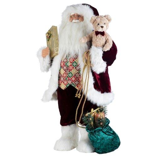 Фигурка KARLSBACH Дед Мороз 84 см белый/красный