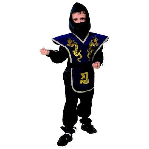 Купить Костюм Батик Ниндзя (7028-1/7028-2), синий/черный, размер 152, Карнавальные костюмы
