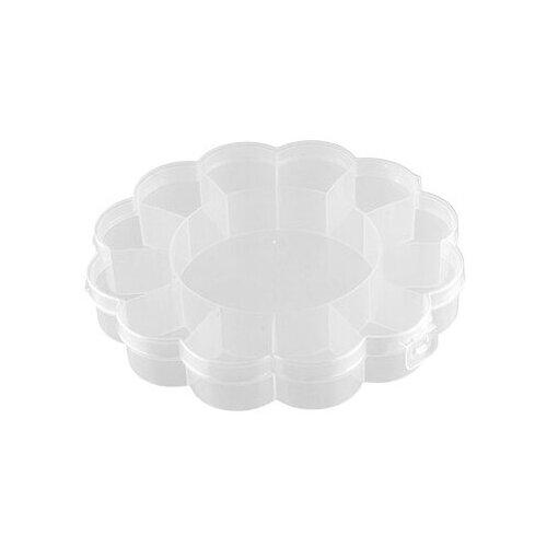 Органайзер Gamma для швейных принадлежностей OM-013 16х16х2,7 см прозрачный
