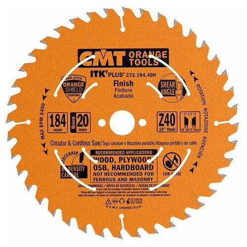Пильный диск CMT 272.184.40H 184х20 мм диск пильный твердосплавный cmt 226 060 10m