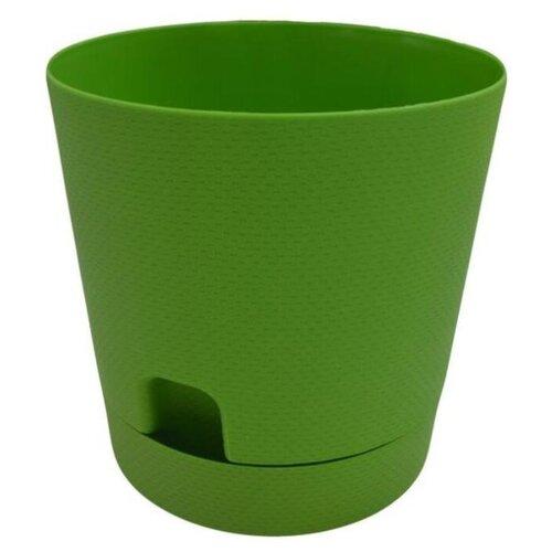 Горшок ТЕК.А.ТЕК Wafle 510, 1.4 л, 14х14 см темно-зеленый