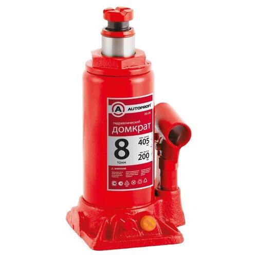 Домкрат бутылочный гидравлический AUTOPROFI DG-08 (8 т) красный