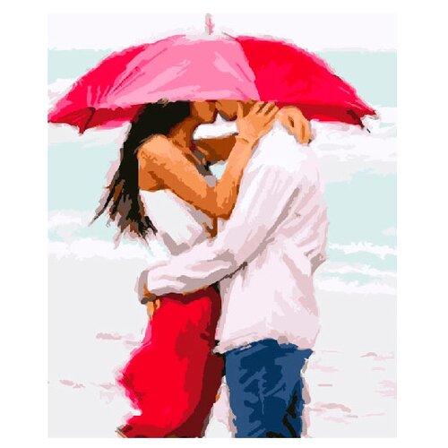 ВанГогВоМне Картина по номерам Двое под зонтом , 40х50 (ZX 21400), Картины по номерам и контурам  - купить со скидкой