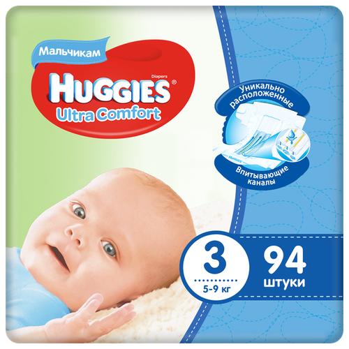 Huggies подгузники Ultra Comfort для мальчиков 3 (5-9 кг) 94 шт. подгузники для малышей libero newborn 2 3 6 кг 94 шт