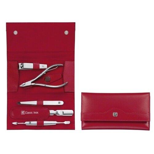 Маникюрный набор Manicure Twinox, Inox, 5 предметов, красный набор zwilling j a henckels inox 97507 черный 5 предметов