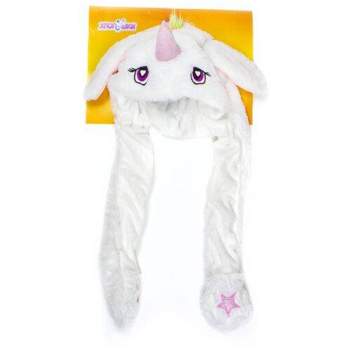 Купить Головной убор 1 TOY Хлоп-Ушки Единорог (Т17635), белый, Карнавальные костюмы