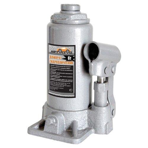 Домкрат бутылочный гидравлический Автостоп AJ-006 (6 т) серый домкрат бутылочный гидравлический автостоп aj 016 16 т серый