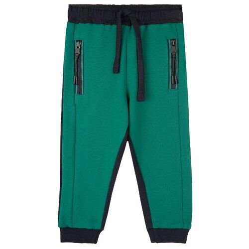 Купить Брюки playToday 32013043 размер 74, темно-синий/зеленый, Брюки и шорты