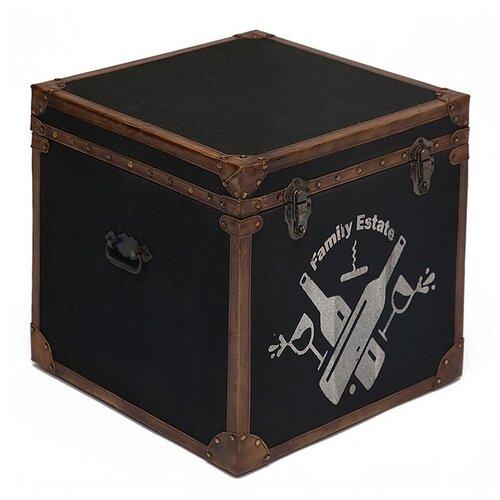 Сундук TetChair Secret De Maison Bordeaux 45х45х45 см черный/коричневый