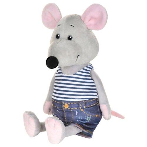 Купить Мягкая игрушка Maxitoys Мышонок Степа в джинсах 23 см, Мягкие игрушки