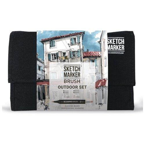 Купить SketchMarker Набор маркеров Brush Outdoor Set, 24 шт., Фломастеры и маркеры