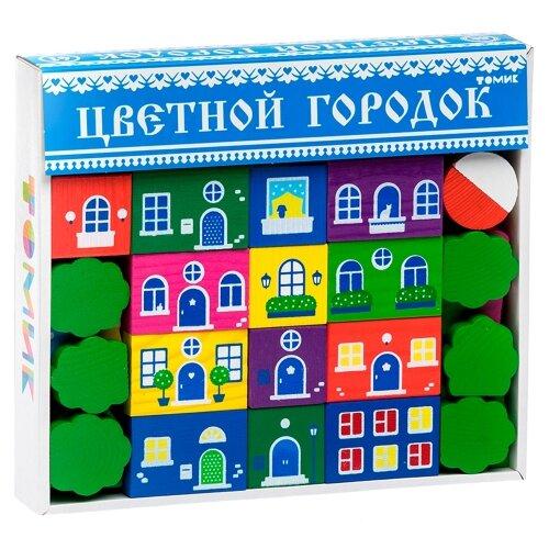 Кубики Томик Цветной городок большой 8688-8 томик конструктор веселый городок 56 деталей томик