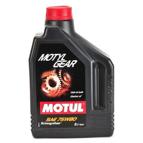Масло трансмиссионное Motul MotylGear 75W-80, 75W-80, 2 л масло трансмиссионное motul motylgear 75w 90 75w 90 20 л