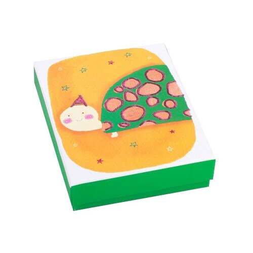 Коробка подарочная Yiwu Zhousima Crafts Черепаха 12 х 3.5 х 14 см желтый/зеленый
