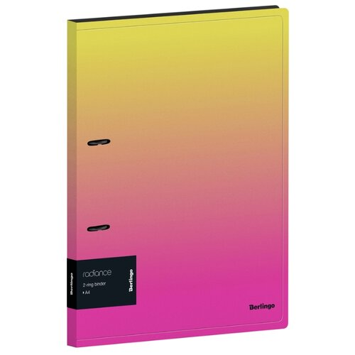 Фото - Berlingo Папка на 2-х кольцах Radiance А4, 24 мм, 600 мкм, пластик желтый/розовый berlingo папка с 20 вкладышами и внутренним карманом radiance а4 17 мм 600 мкм пластик желтый розовый
