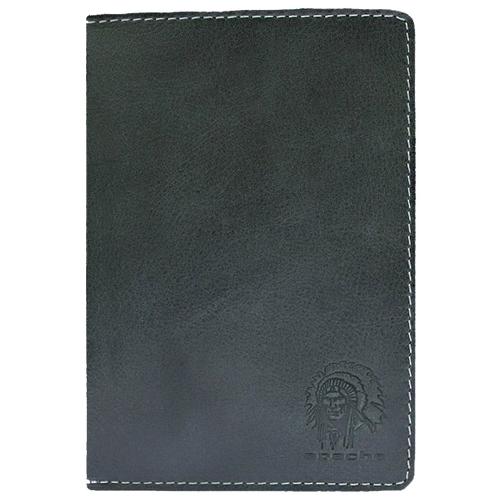 Бумажник водителя из натуральной кожи ОВ-А дымчато-черный Apache
