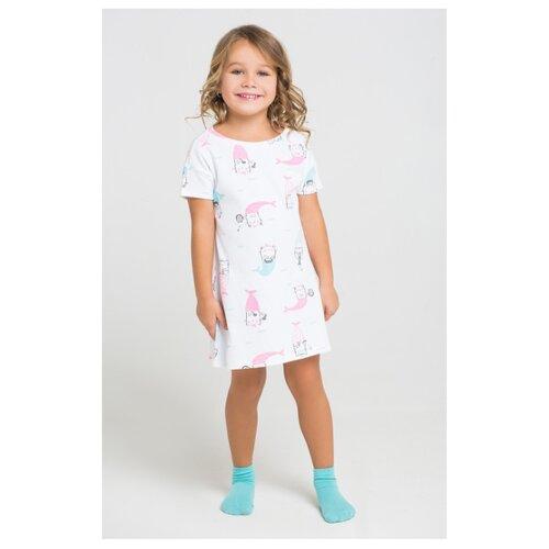 Купить Сорочка crockid размер 128, белый, Домашняя одежда